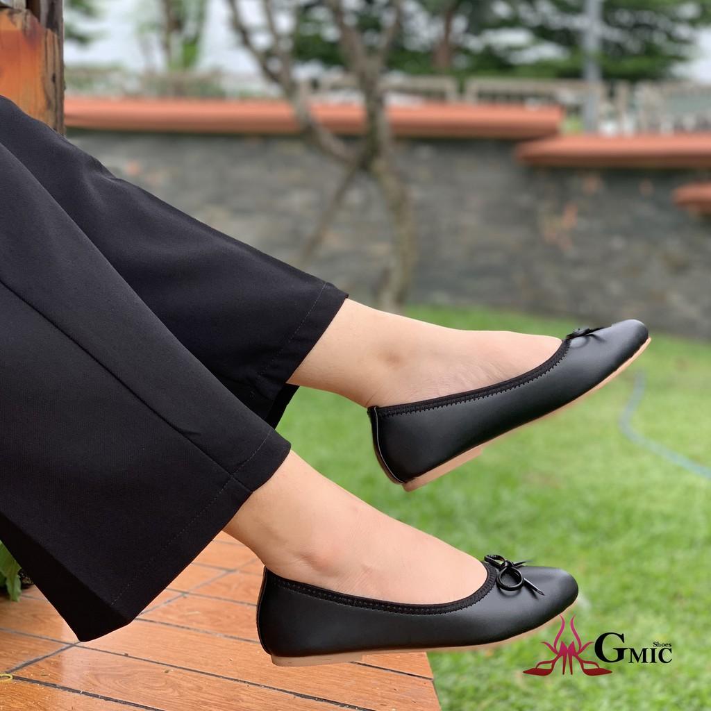 Giày Búp Bê Nơ Nhỏ Cao Cấp GMIC   Giày Búp Bê Thời Trang Êm Chân, Xinh Xắn Chất Lượng NBB001