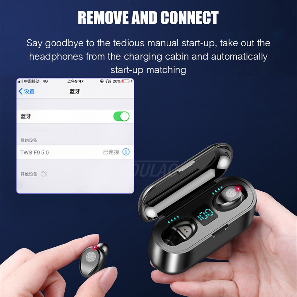Tai Nghe Không Dây F9 Bluetooth 5.0 Tws Mini