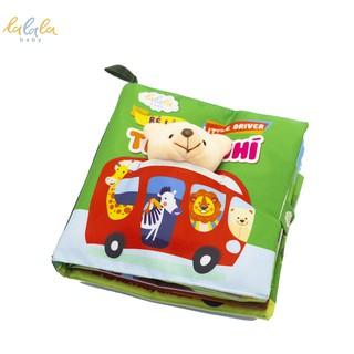 Sách vải Lalala baby chủ đề Bé làm tài xế nhí, kích thước 18 18cm, 12 trang