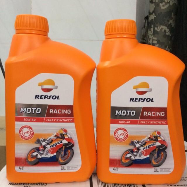 Combo 2 chai nhớt tổng hợp Repsol Racing 10W40 1L tổng hợp - Nhập 100% Tây Ban Nha
