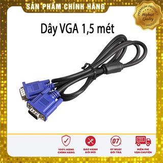 [1 đổi 1] Dây VGA – Cáp VGA chống nhiễu 5 mét – Chống nhiễu – 2 đầu màu xanh – BH 12 tháng