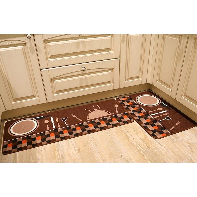combo 1 cặp thảm bếp gồm 2 thảm 40x60 và 40x120