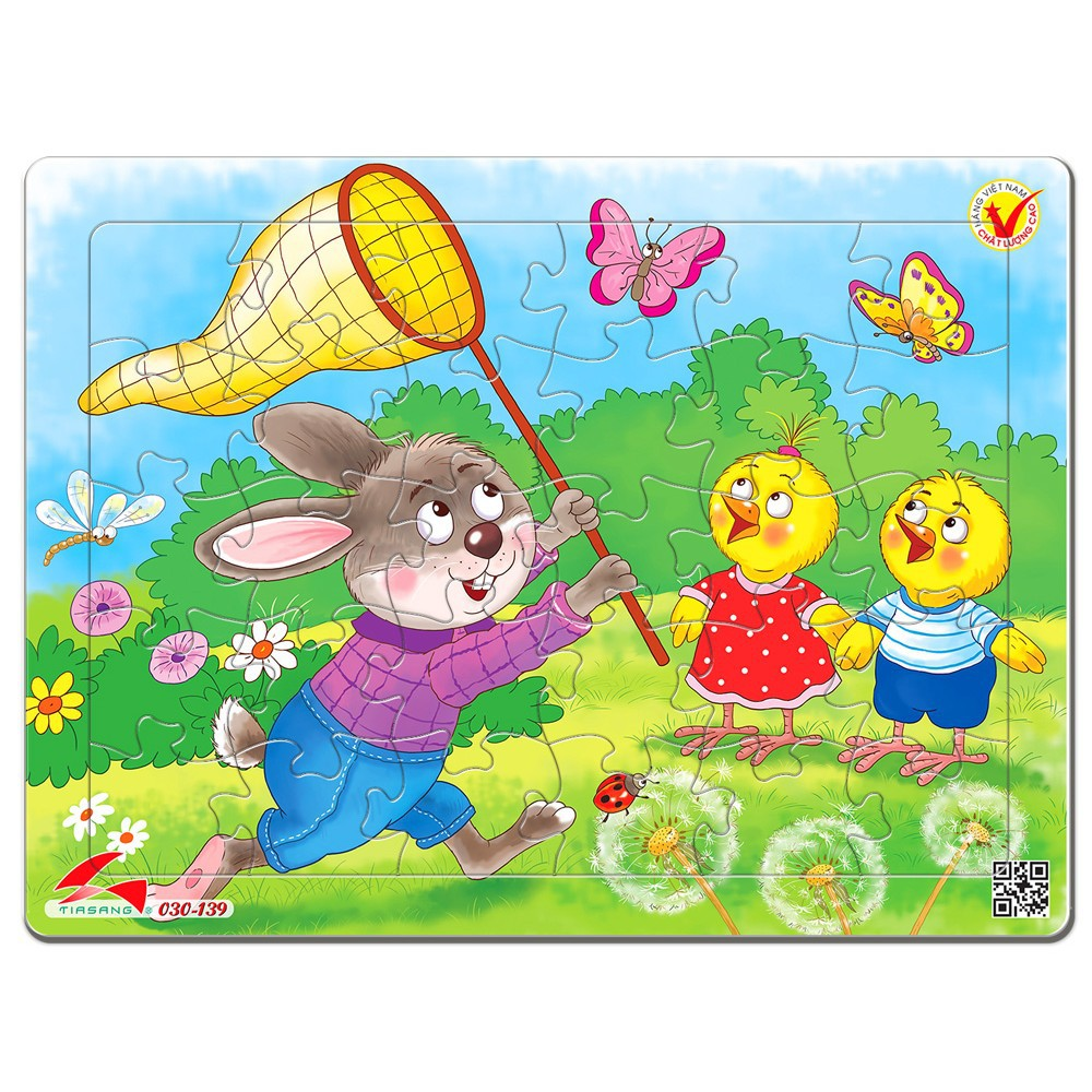 (Siêu đẹp) Tranh xếp hình 30 mảnh, Hàng Tia Sáng Việt Nam (Kích thước gần bằng khổ A4). Đồ chơi trí tuệ cho bé.
