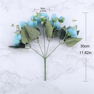 ☍Bông hoa 9 đầu trang trí phong cách vintage 30cm