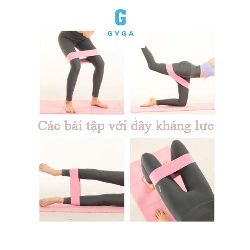 Dây mini band kháng lực tập chân mông AOLIKES dây đàn hồi phụ kiện tập gym yoga GYGA