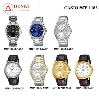 Đồng hồ nam dây da Casio chính hãng Anh Khuê MTP-1183 (7 màu sắc) MTP-1183A, MTP-1183E, MTP-1183G, MTP-1183Q thumbnail