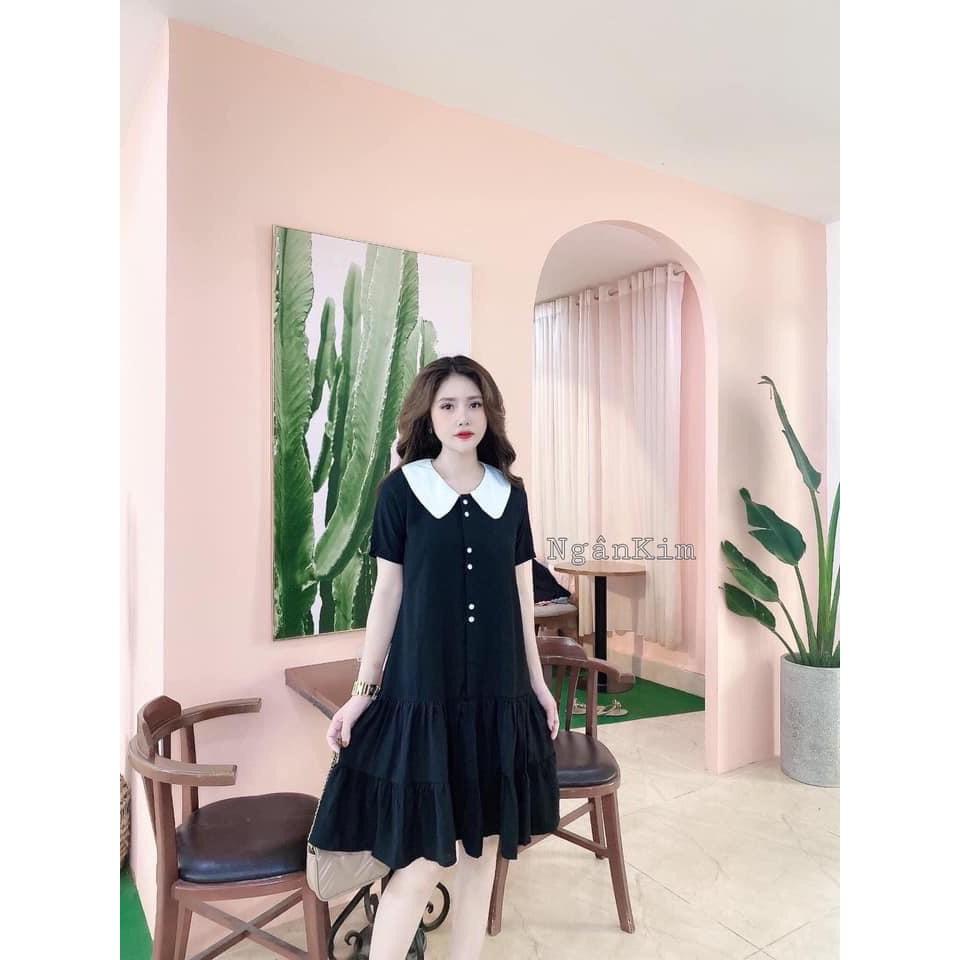 Mặc gì đẹp: Dễ chịu với [Hàng cao cấp]Váy bầu thiết kế☘️đầm bầu mặc đi làm đi chơi đều được☘️chất kẻ hàn siêu mát☘️free size (43-68kg)