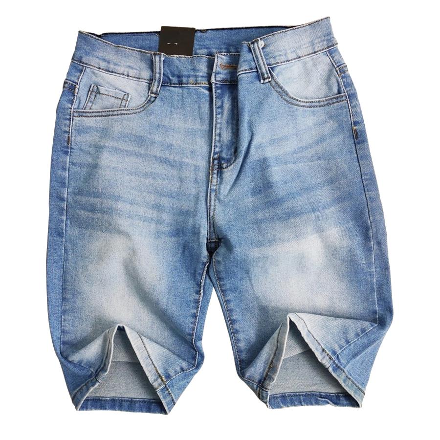 [Mã FAMALLT5 giảm 15% đơn 150K] Quần short jean nam co giãn MĐ Q807 xanh nhạt