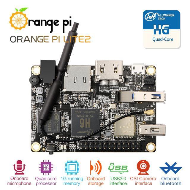 Orange Pi Lite 2 USB 3.0 H6 1GB RAM Quadcore 64bits