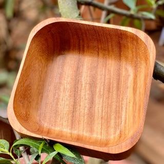 Tô gỗ gõ đỏ nguyên khối hình vuông thumbnail
