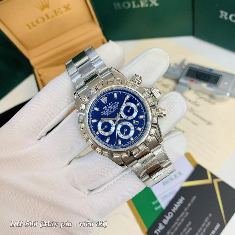 Đồng hồ nam RL - mặt tròn máy pin cao cấp dây kim loại bảo hành DH506 shop105