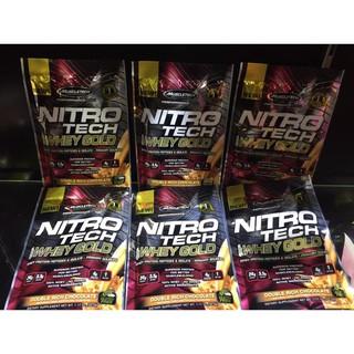 Gói mẫu dùng thử 1 lần dùng – Nitro tech 100% Whey Gold – Hãng Muslcetech