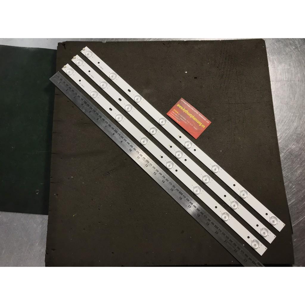 Bộ 3 thanh 8 Led 3V cho tivi Asanzo 32 inch và các dòng tương tự