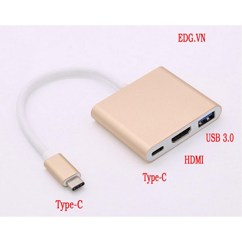 Cáp Chuyển Type C Sang HDMI + USB 3.0 + Type C - USB-C
