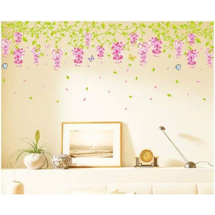 Decal dán tường chùm hoa rủ