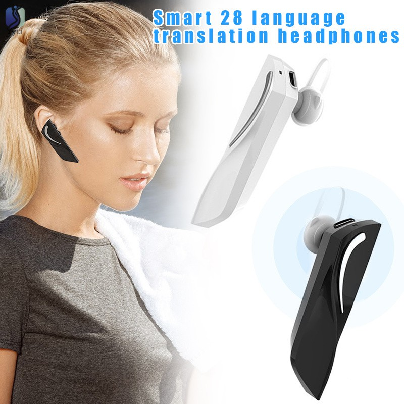 VN Thiết Bị Phiên Dịch Dịch 28 Ngôn Ngữ Tai Nghe Bluetooth