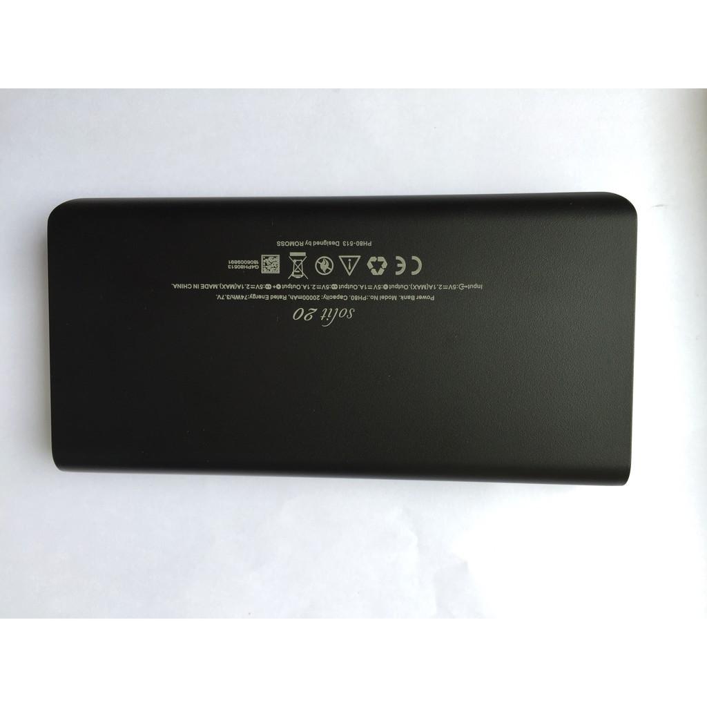 Pin sạc dự phòng - Pin sạc dự phòng 20000mAh Romoss SOLIT 20 chính hãng phân phối