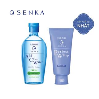 Bộ đôi làm sạch Nước tẩy trang Fresh 230ml Sữa rửa mặt Senka Perfect Whip 120g_95203
