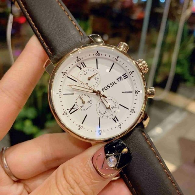 Đồng hồ nam Fossil BQ1009 Chronograph dây da nâu cao cấp Đồng hồ nam Fossil BQ1009 Chronograph dây da nâu cao cấp