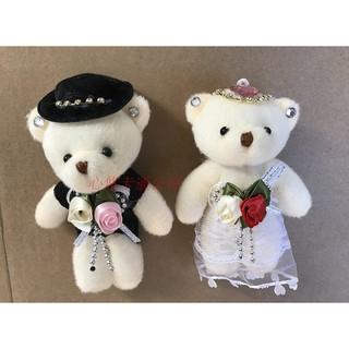 Gấu cô dâu chú rể nhỏ 10 cm NEW