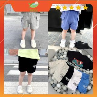 Quần Đùi Short Thun Cho Bé Chất Liệu Cotton 4 Màu Mềm Mịn Từ 8kg Đến 28kg DOLY STORE