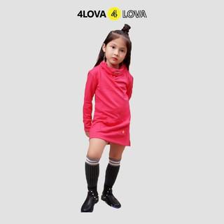 Áo nỉ da cá 4LOVA dài tay kiểu dáng cách điệu cho bé gái BG-ANDCCD