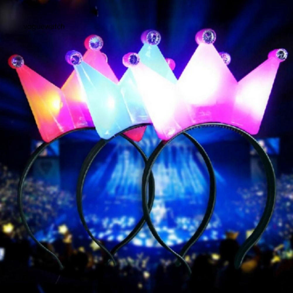 VGWT_Cute Princess Light Up Headband Flashing Crown LED Hair Hoop Party Supplies