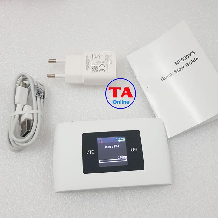 Bộ Phát Wifi 3G/4G ZTE MF920VS. Tốc độ 150Mbps. Hỗ trợ 10 user