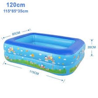bể bơi chữ nhật 2 tầng 1m2 (tặng miếng vá bể)