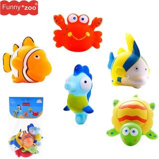 Đồ chơi nhà tắm Funnyzoo 5 sinh vật biển phun nước