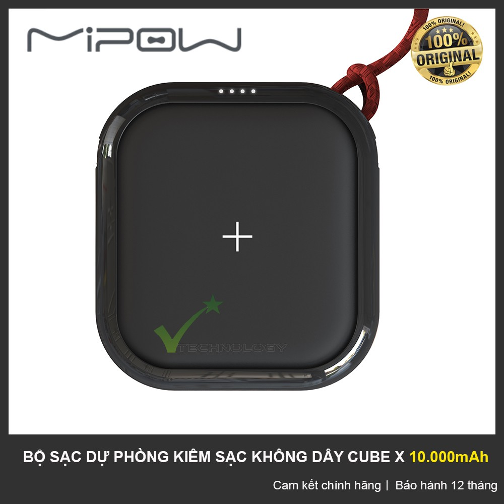 [CHÍNH HÃNG, NGUYÊN SEAL] Bộ sạc dự phòng kiêm sạc không dây thời trang Mipow Cube X 1000+ 10000 mAh - 3040922 , 1258757873 , 322_1258757873 , 1390000 , CHINH-HANG-NGUYEN-SEAL-Bo-sac-du-phong-kiem-sac-khong-day-thoi-trang-Mipow-Cube-X-1000-10000-mAh-322_1258757873 , shopee.vn , [CHÍNH HÃNG, NGUYÊN SEAL] Bộ sạc dự phòng kiêm sạc không dây thời trang Mi