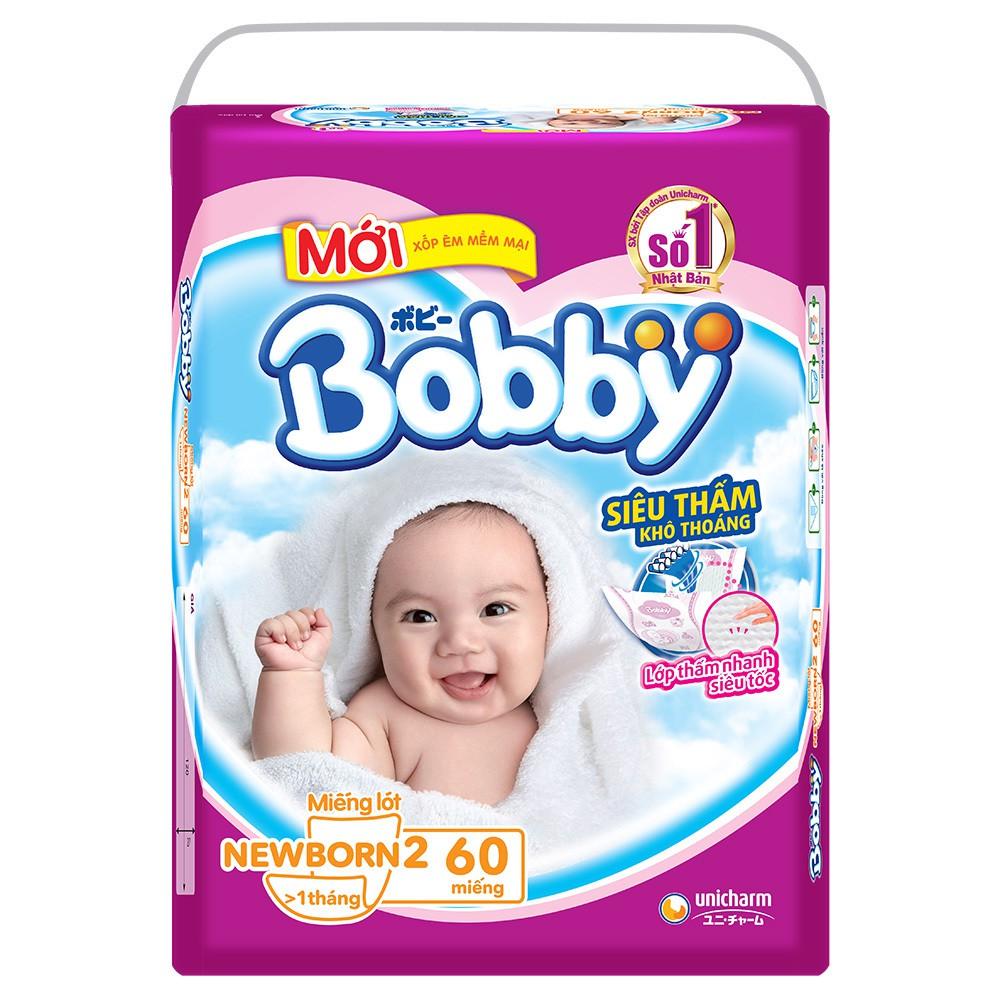 Miếng lót Bobby Fresh Newborn 2 -60 miếng (trẻ từ 1 - 3 tháng)