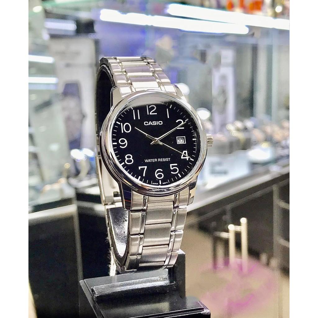 Đồng hồ nam dây thép không gỉ Casio MTP-V002D-1BUDF chính hãng Anh Khuê