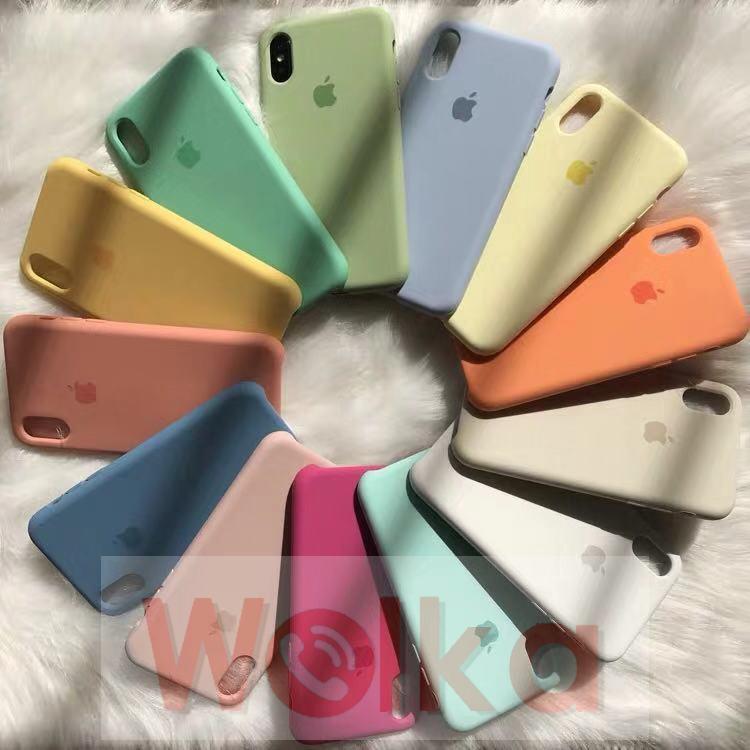 Ốp điện thoại bằng silicon in logo hình trái táo dành cho IPhone 7 8 6 6S Plus X XS XR XS MAX