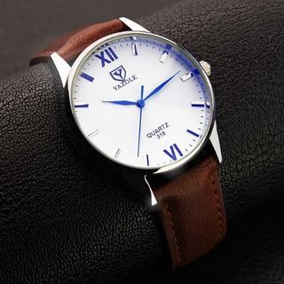 Đồng hồ nam Yazole 318 dây da (Tră ng Nâu) thumbnail