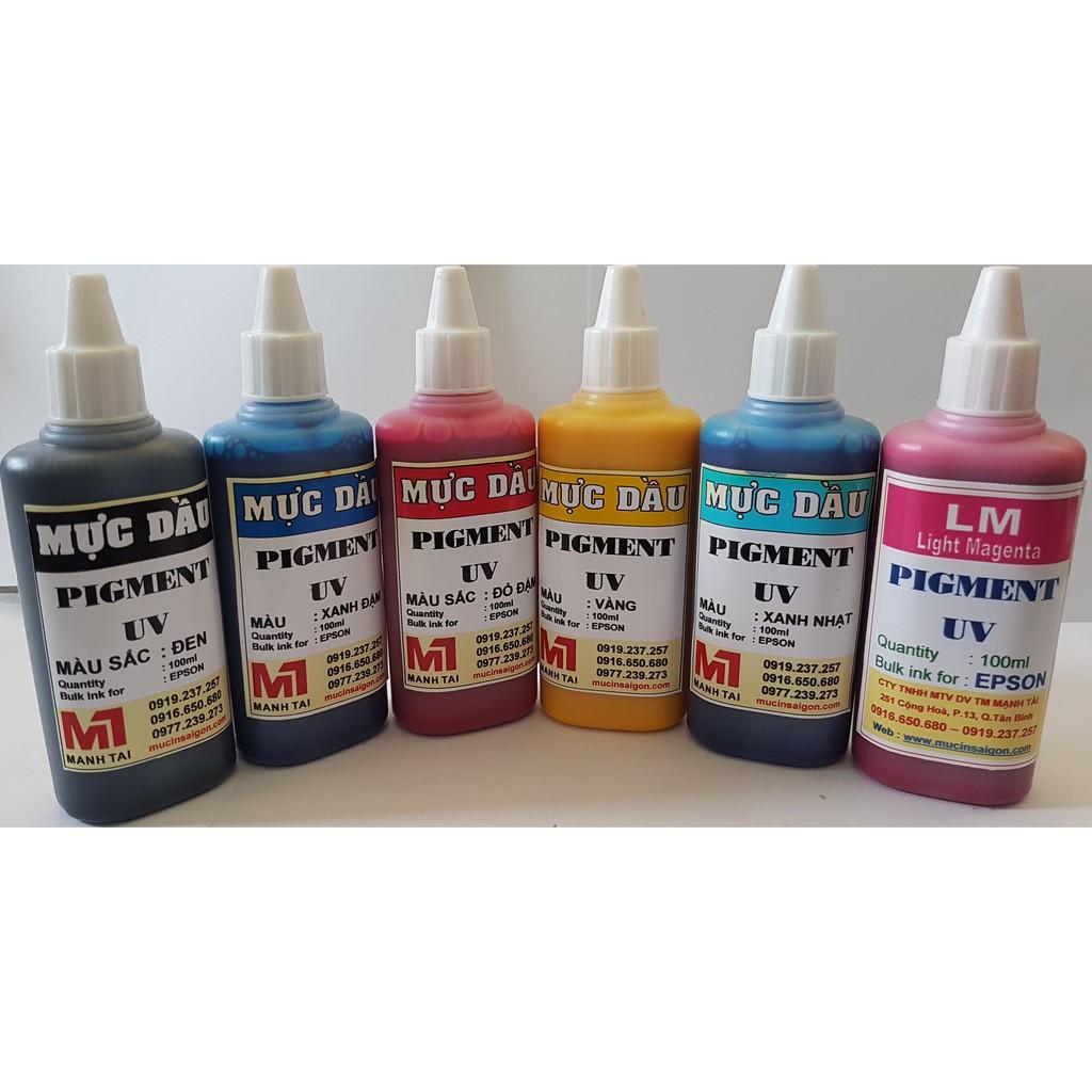 Mực in epson - Mực dầu pigment uv 100ml dùng cho máy in phun màu Epson T50 / T60 / L310 / L805 / L1800...