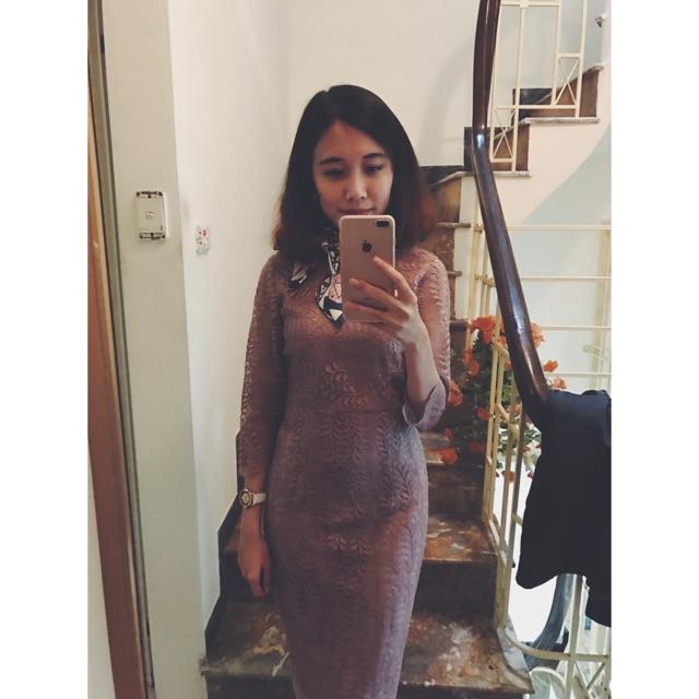 [Pass] Váy ren body size S hàng thiết kế