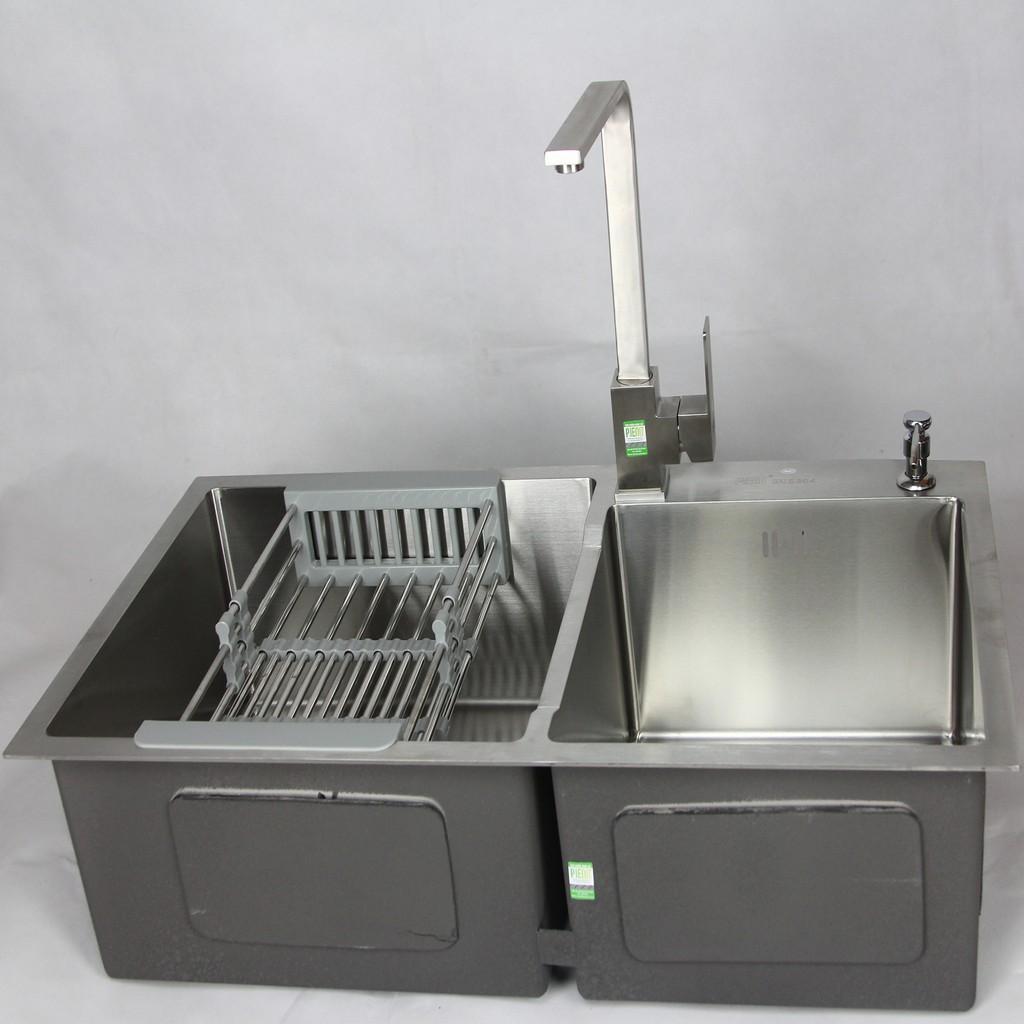 Image result for Vòi bếp inox 304 nóng lạnh vuông P2851