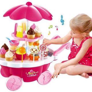 Xe kem đồ chơi cho bé có đèn và nhạc