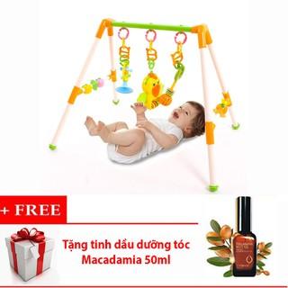 Kệ chữ A con Vẹt có nhạc cho Bé + Tặng tinh dầu dưỡng tóc Macadamia 50ml