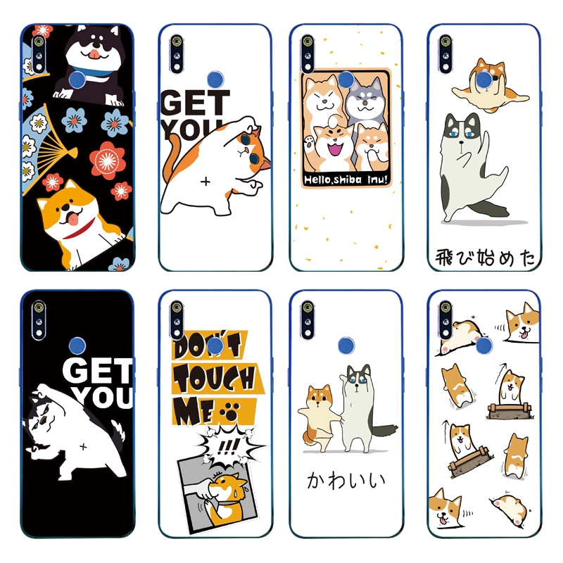 Cartoon Cute Cat Couple Pattern Back Cover OPPO Realme 3 OPPO A7 2018 Soft TPU Case