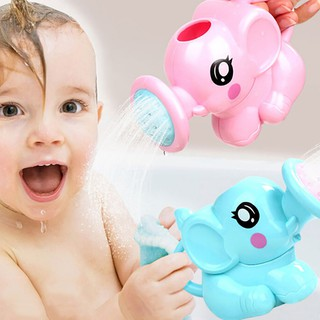 MUL❤ 1PC cute elephant watering pot baby bath toy beach play water sand t