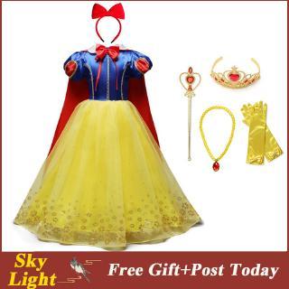 Đầm công chúa Bạch Tuyết cho bé gái