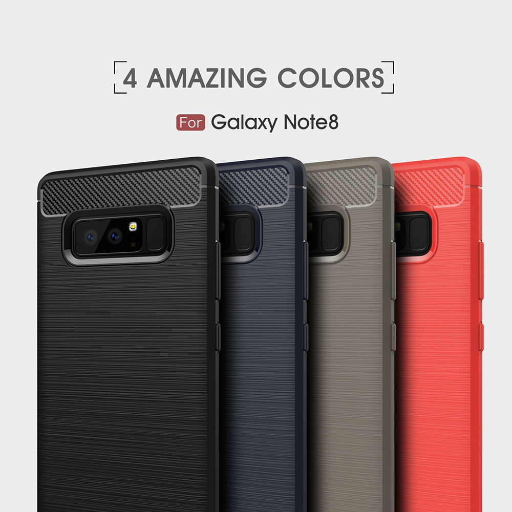 Ốp điện thoại TPU silicon sợi carbon chống sốc Samsung Note 8