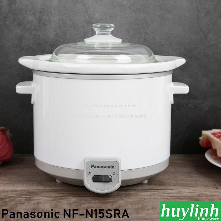 Nồi tiềm, nấu cháo chậm Panasonic NF-N15SRA - 1.5 lít - Made in Malaysia