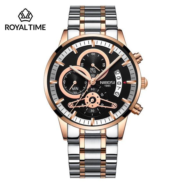 [Tặng vòng tay]Đồng hồ nam NIBOSI chính hãng NI2309-1.10S dây thép cao cấp