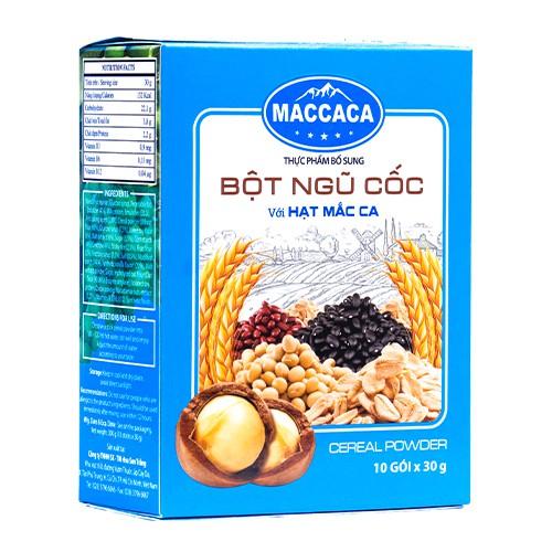 Maccaca - Bột Ngũ Cốc với hạt Mắc Ca