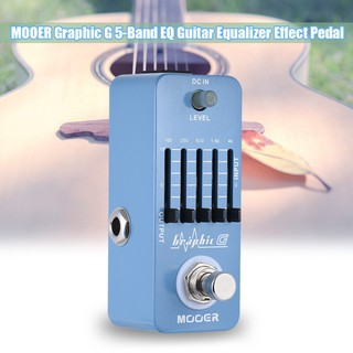 yohi2018 MOOER Graphic G Guitar Equalizer Effect Pedal 5-Band EQ True Bypass