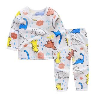 Bộ cotton dài tay điều hòa khuy vai cho bé trai và bé gái (HN 299) thumbnail