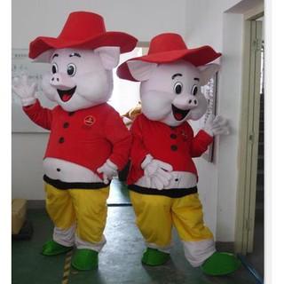 Quần áo hoá trang Mascot Heo hồng – sinh nhật, sự kiện